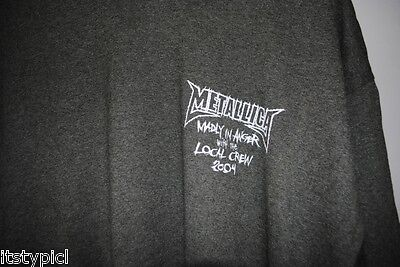 Metallica Madly In Anger with the Local Crew 2004 T-Shirt XL Gray