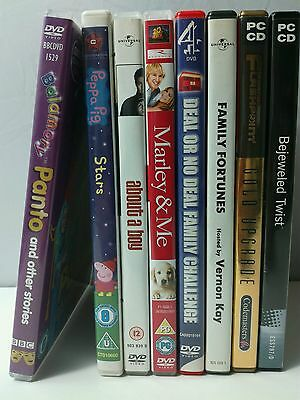8x DVDs games bundle clearance PC games DVDs kids +interactive deal or no deal