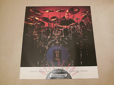 Rush  Neil Peart Original Ludwig Drums Poster - Counterparts Tour