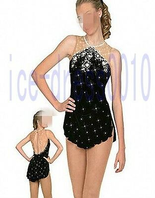 Brand New Figure Skating competition Dress Ice Skating Training Dress Woman 8905
