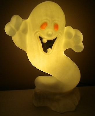 """Vintage Drainage 22"""" Boo Ghost Blow Mold Halloween Lightup"""