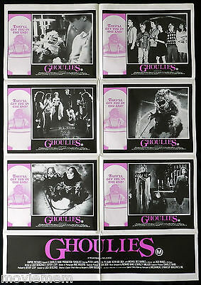 THE GHOULIES Horror classic VINTAGE Australian Photo Sheet Movie poster