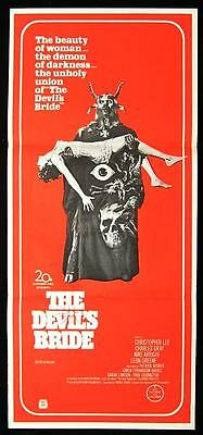 THE DEVIL RIDES OUT 1969 Christopher Lee HAMMER Daybill Movie poster