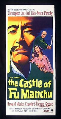 CASTLE OF FU MANCHU 1969 Christopher Lee RARE Daybill Movie poster