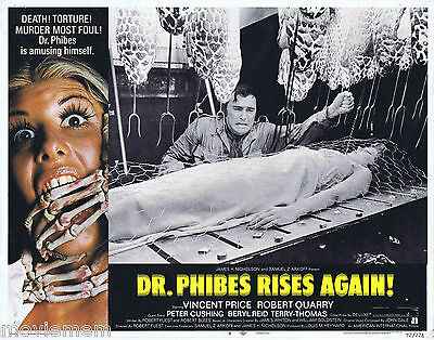 DR PHIBES RISES AGAIN 1972 Vincent Price US Lobby Card 8
