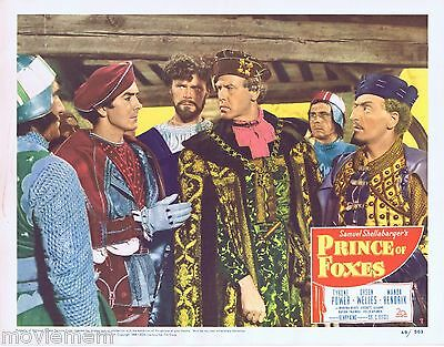 PRINCE OF FOXES 1949 Lobby Card 7 Tyrone Power Orson Welles