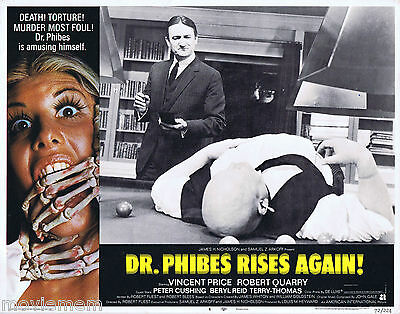 DR PHIBES RISES AGAIN 1972 Vincent Price US Lobby Card 4