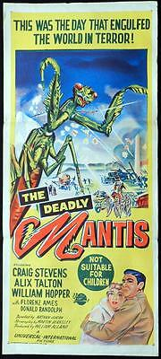THE DEADLY MANTIS 1957 Giant Insect! RARE Daybill Movie poster