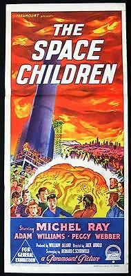 THE SPACE CHILDREN 1958 Sci Fi RICHARDSON STUDIO Daybill Movie Poster