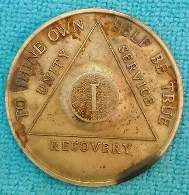 Vintage AA Medallion ONE YEAR Recovery