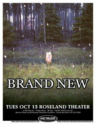 BRAND NEW w/ JESSE LACEY 2009 Gig POSTER Portland Oregon Concert