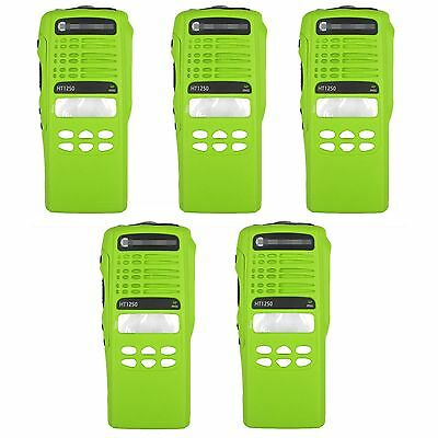 5x Green Replacement Housing For Motorola HT1250 limited-keypad Portable Radios