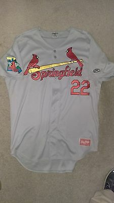 Springfield Cardinals Authentic Game Used Road Jersey  Tommy Phamm #22  Size 48