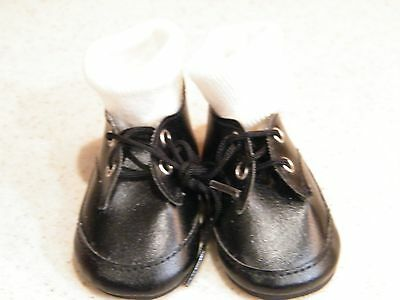 Pair Of Black Shoes w/Socks For Lee Middleton Or Other Modern Doll Excellant Con