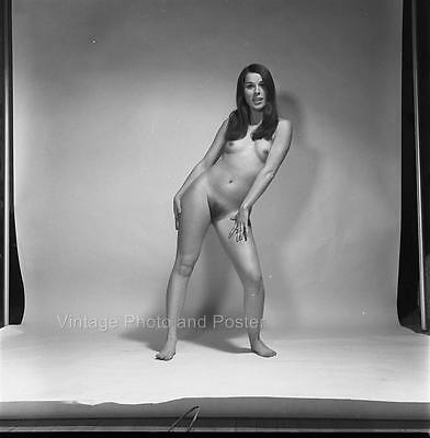 Lovely nude of Diane Finn by Peter Basch 2 1/4  BW negative vintage