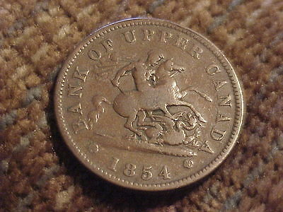 Large, 1854, Canada One Penny Bank Token....Pre Regular coinage