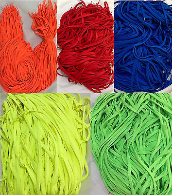 2x PAIRS Coloured Colourful Shoelaces 46 inch High Quality Kids Flat Shoe Lace