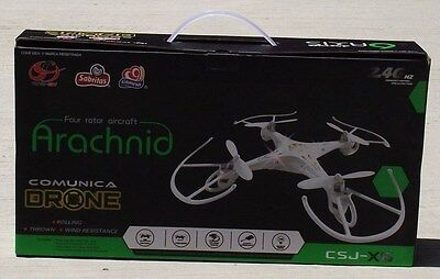RC Drone Arachnid Quadcopter Helicopter 4D 2.4G UFO Rotor Aircraft 6 Axis CSJ-X6