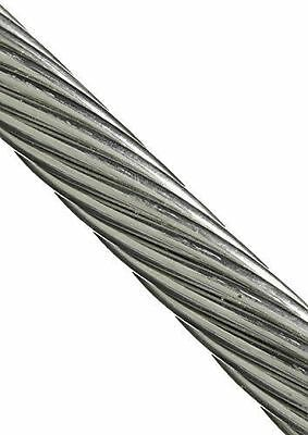 """T316  Stainless Steel Cable Wire Rope 3/16"""" 1x19  (15-25-35-50-75FT) Marine Grad"""
