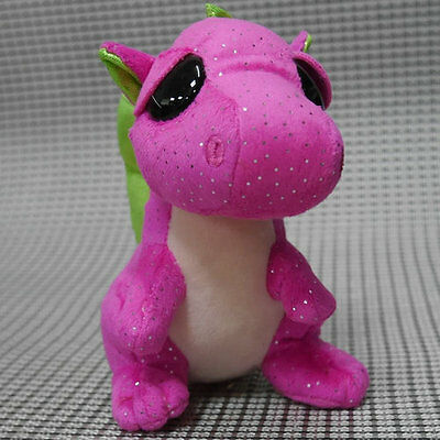 TY BEANIES BOOS Darla Pink Dragon 6 INCH  Stuffed toy ONLY HEART TAG