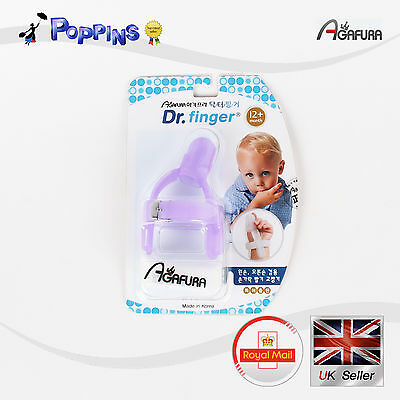 New PURPLE Baby Stop Sucking Thumb Dr.finger Harmless Months Years Guard Protect