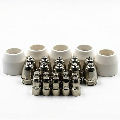 25pk P80 Panasonic Torch Air Plasma Cutter Cutting Nozzles Tips 1.5+ Electrodes