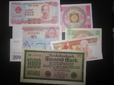 World currency / foreign paper money lot 312