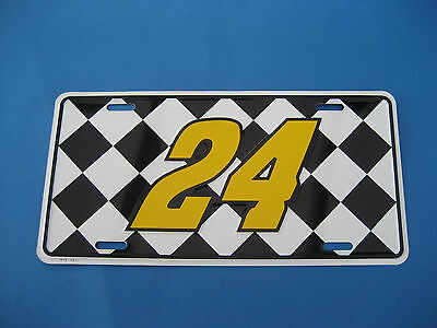 Automobile Racing  Chequered Flag   Novelty Plate  (Pk60)