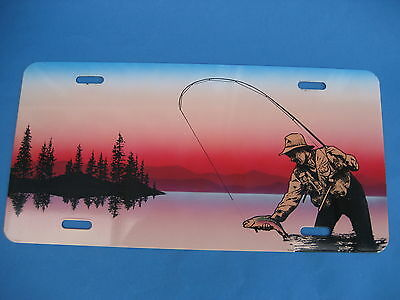 FISHERMAN at SUNSET    PLATE  (PK50)