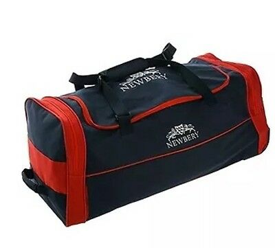 Newbery County Wheelie Cricket Bag Navy/Red