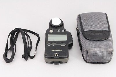 【Excellent++ w/ CASE】 Minolta Auto Meter IV F Flash Ligh Meter From Japan #1473