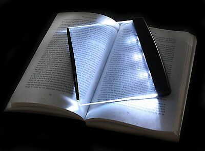 LSHCX Paperback LED Light Wedge Panel Book Reading Lamp