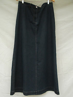 Pumpkin Patch Maternity Denim Maxi Skirt sz L 'one from the heart' label
