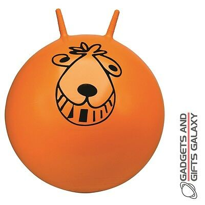 RETRO ORANGE SPACE HOPPER 27cm & HAND PUMP traditional toy gift childs adults