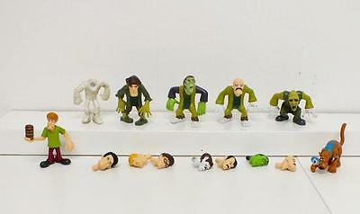 Set of 7 Scooby Doo Mystery Mates action figures - with changeable heads - (655)