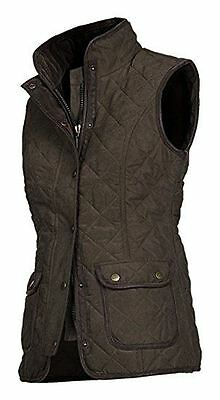 Baleno Scarlett Fashionable Quilted Ladies Gilet - Chocolate