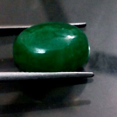 8.40 CT 100% NATURAL Good GREEN EMERALD CABOCHON OVAL SHAPE GEMSTONE