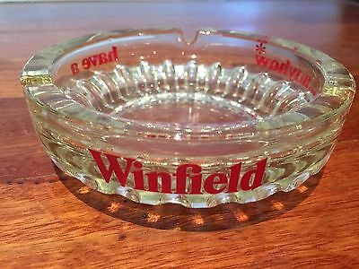 Vintage Collectable Winfield Cigarette Smoking Glass Ashtray