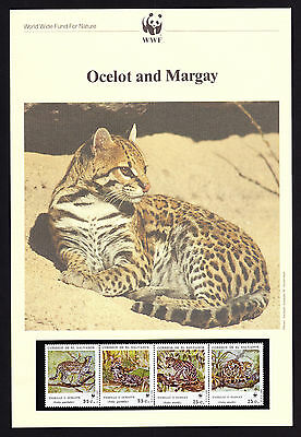 El Salvador Ocelot Margay Leopard Wild Cat FOUR Maxi Postcards & FOUR FDC Covers
