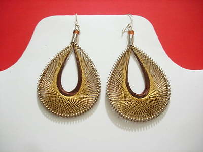 Metallic Thread Earrings Peruvian Earrings Small Size Assorted colors