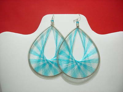 Thread Earrings Peruvian Earrings with Silk Thread  Large Size