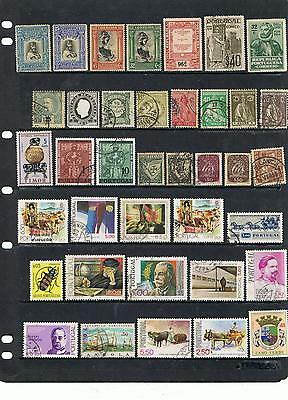 Collection Early Onward Portugal & Regions Stamps Mint & Used Off Paper
