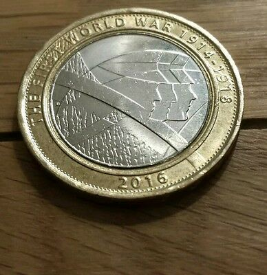 The First World War The Army   2016 £2 coin#!