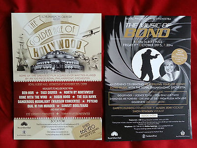 3 X The Music Of Bond/golden Age Of Hollywood Rpo Royal Albert Hall Colour Flyer