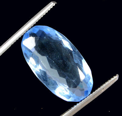 Awesome 15.22ct Beautiful& Transparent Oval Mixed Lab Created Blue Topaz GN-2984