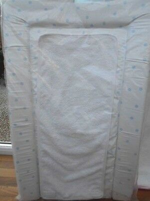 Deluxe Blue Spot Dot Baby Changing Mat With Towelling Liner New