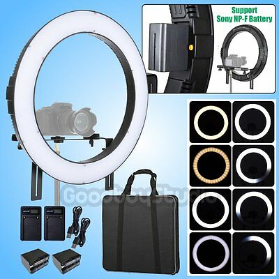Fotoconic 50cm LUX429 Bicolor Dimmable LED Ring Light w/ 2X Battery + 2X Charger