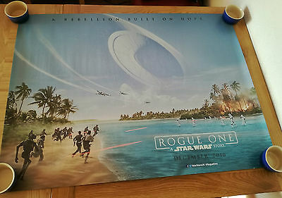 """ROGUE ONE A STAR WARS STORY CINEMA QUAD FILM POSTER 30"""" x 40"""" TEASER"""