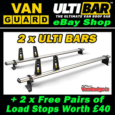 2 x Van Guard ULTI Bars Roof Rack Aluminium ULTIBARS VG236-2 Sprinter 2006+