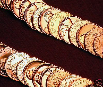 1964 Proof Lincoln Memorial Cent Penney Roll Of 50 Coins In A Tube !!!!!